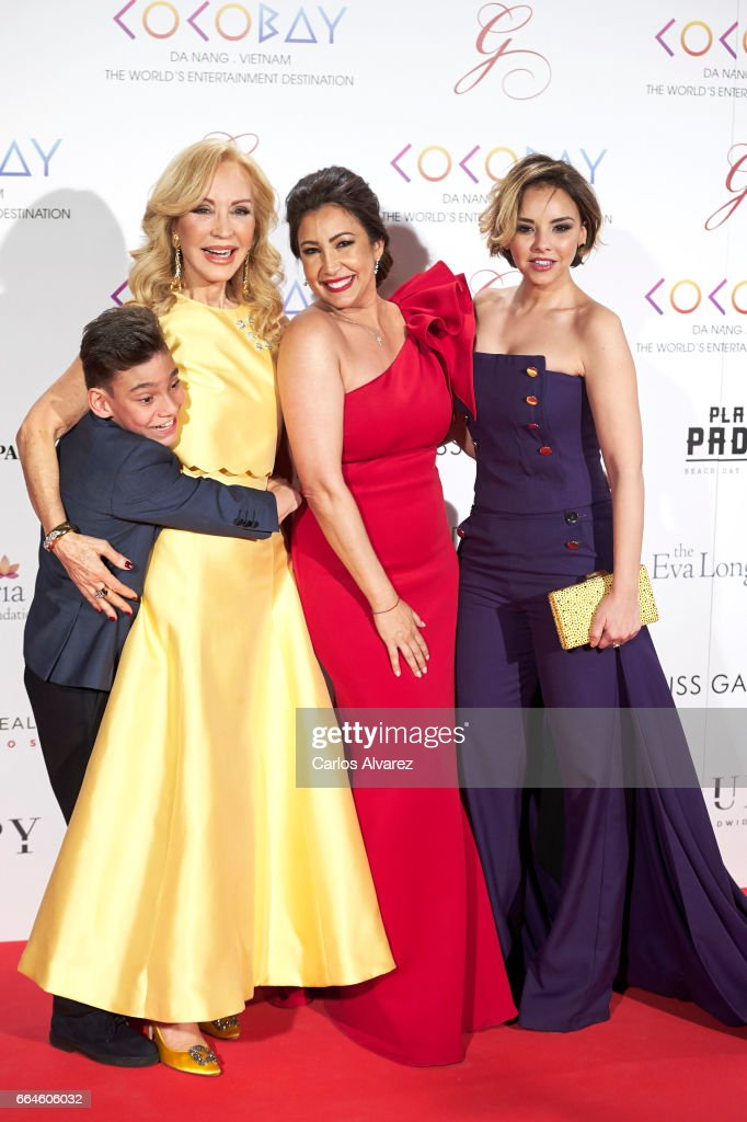 Carmen Lomana, Maria Bravo and Chenoa attend the Global Gift Gala 2017 at the Royal Teather on April 4, 2017 in Madrid, Spain.