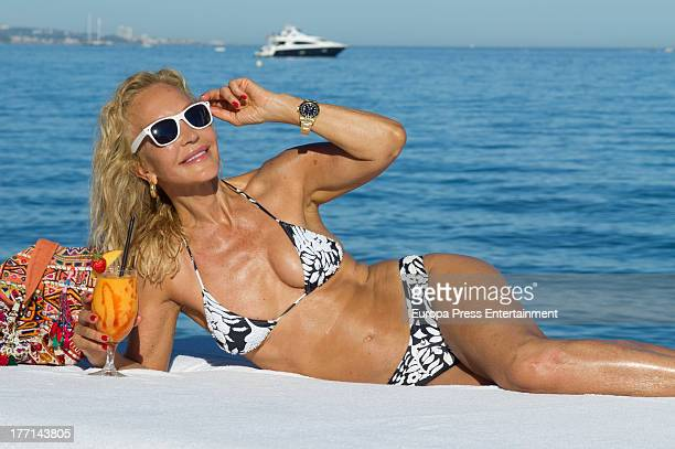 Carmen Lomana poses during her holidays on July 30 2013 in Marbella Spain