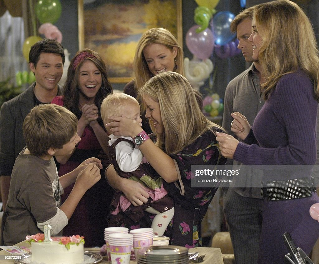 LIVE - Carmen LoPorto (Jack), Jason Tam (Markko), Brittany Underwood (Langston), Tess/Molly/Madeline Sullivan (Hope), Susan Haskell (Marty), Kristen Alderson (Starr), Trevor St. John (Todd) and Kassie DePaiva (Blair) in a scene that airs the week of November 2, 2009 on ABC Daytime's 'One Life to Live.' 'One Life to Live' airs Monday-Friday (2:00 p.m. - 3:00 p.m., ET) on the ABC Television Network. OLTL09 (Photo by Lorenzo Bevilaqua/ABC via Getty Images) CARMEN