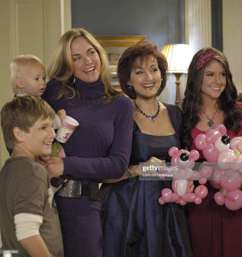 LIVE - Carmen LoPorto (Jack), Tess/Molly/Madeline Sullivan (Hope), Kassie DePaiva (Blair), Robin Strasser (Dorian), Brittany Underwood (Langston), Tia Hodge (Amelia), Jason Tam (Markko) and Susan Haskell (Marty) in a scene that airs the week of November 2, 2009 on ABC Daytime's 'One Life to Live.' 'One Life to Live' airs Monday-Friday (2:00 p.m. - 3:00 p.m., ET) on the ABC Television Network. OLTL09 (Photo by Lorenzo Bevilaqua/ABC via Getty Images) CARMEN