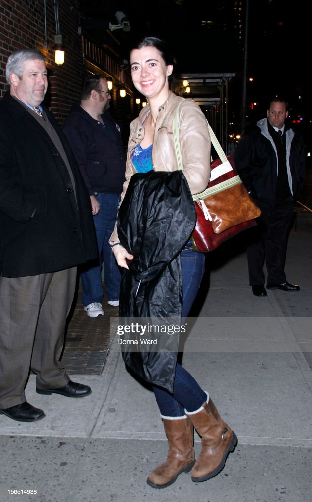 Carmen Lynch arrives for 'The Late Show with David Letterman' at Ed Sullivan Theater on November 15, 2012 in New York City.
