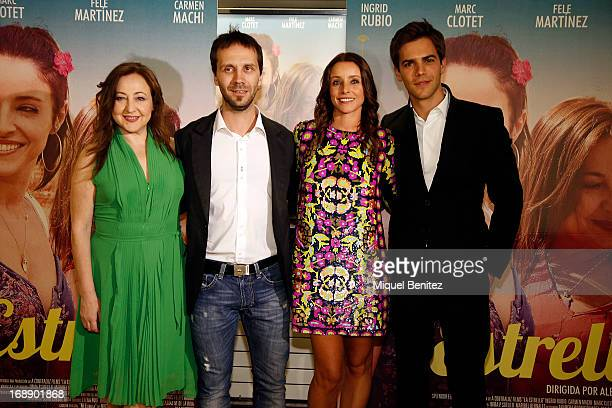 Carmen Machi Alberto Aranda Ingrid Rubio and Marc Clotet attend the premiere of 'La Estrella' on May 16 2013 in Barcelona Spain