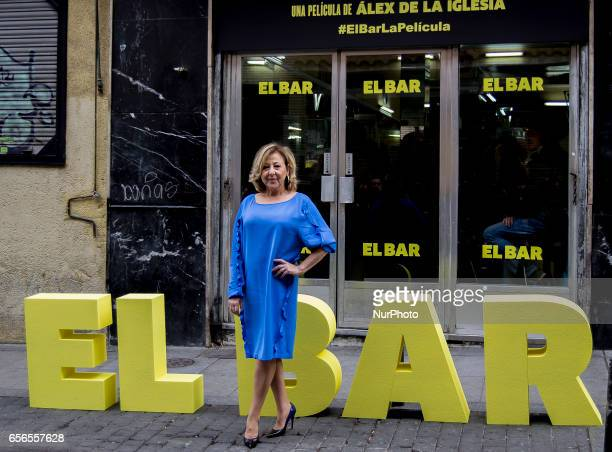 Carmen Machi attends 'El Bar' Photocall at Paletinos bar on March 22 2017 in Madrid Spain
