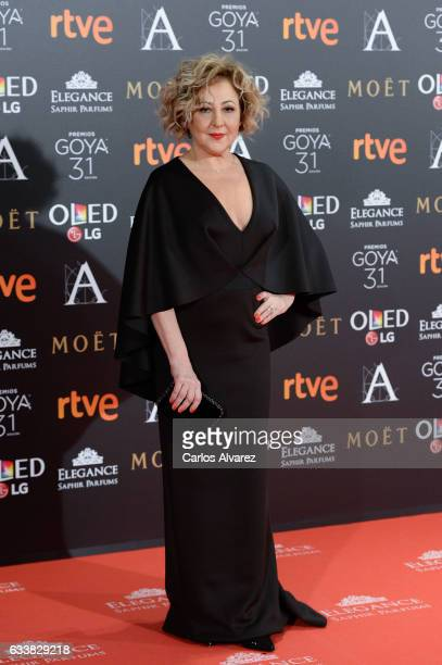 Carmen Machi attends Goya Cinema Awards 2017 at Madrid Marriott Auditorium on February 4 2017 in Madrid Spain