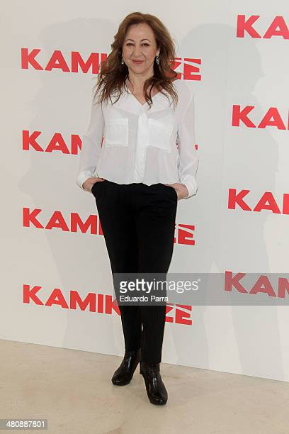 Carmen Machi attends 'Kamikaze' photocall at Hesperia hotel on March 27 2014 in Madrid Spain