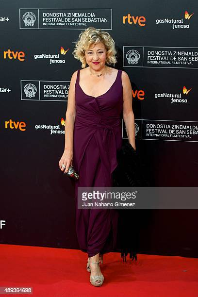 Carmen Machi attends 'Mi Gran Noche' premiere during 63rd San Sebastian Film Festival on September 20 2015 in San Sebastian Spain