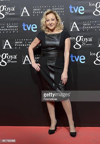 Carmen Machi attends the 29th Goya Awards Nominated Party at the Canal Theater on January 19 2015 in Madrid Spain