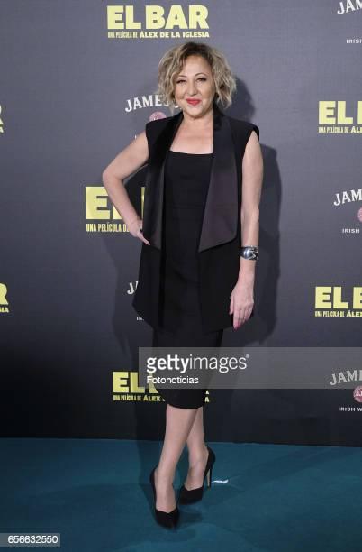 Carmen Machi attends the 'El Bar' premiere at Callao cinema on March 22 2017 in Madrid Spain