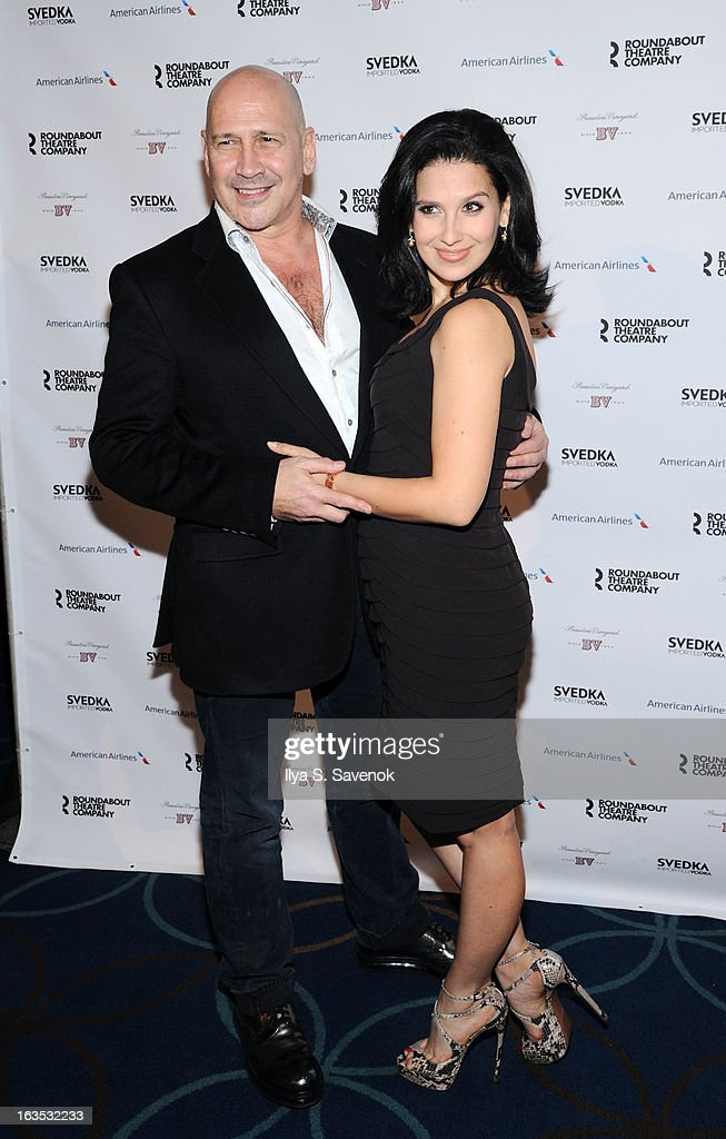 Carmen Marc Valvo and Hilaria Baldwin attend the 2013 Roundabout Theatre Company Spring Gala at Hammerstein Ballroom on March 11, 2013 in New York City.