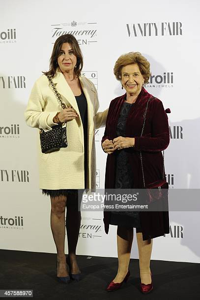 Carmen Martinez Bordiu and Carmen Polo attend the 'Hubert de Givenchy' exhibition opening cocktail on October 20 2014 in Madrid Spain