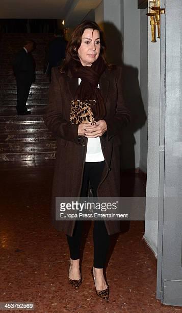 Carmen Martinez Bordiu attends the funeral for Baron of Alacuas Federico Trenor y Trenor at Los Doce Apostoles Church on November 5 2013 in Madrid...