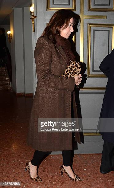 Carmen Martinez Bordiu attends the funeral for Baron of Alacuas Federico Trenor y Trenor at Los Doce Apostoles Church on November 5 2013 in Madrid...