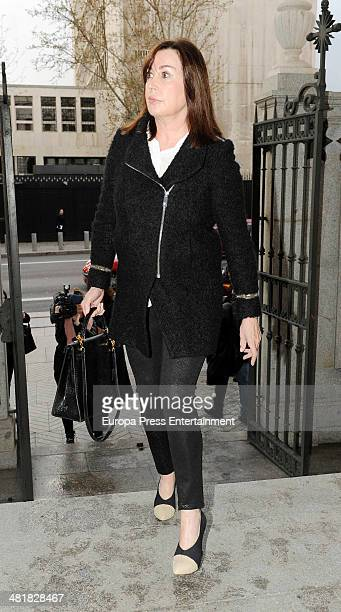 Carmen Martinez Bordiu attends the funeral for the Countess of Ripalda and mother of Jaime de Marichalar Concepcion Saenz de Tejada at San Francisco...