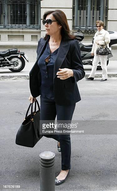 Carmen Martinez Bordiu is seen on April 25 2013 in Madrid Spain