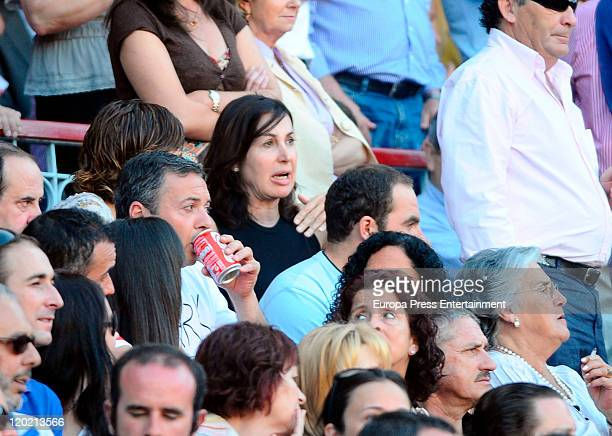 Carmen Martinez Bordiu is seen sighting at Santander Bullring on July 31 2011 in Santander Spain