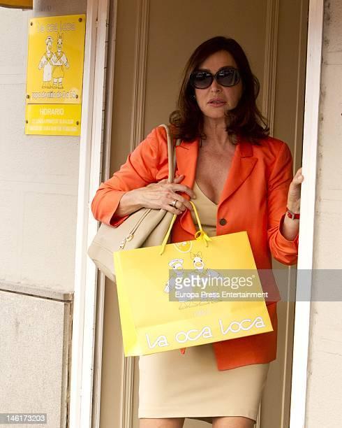 Carmen Martinez Bordiu shops May 29 2012 in Madrid Spain
