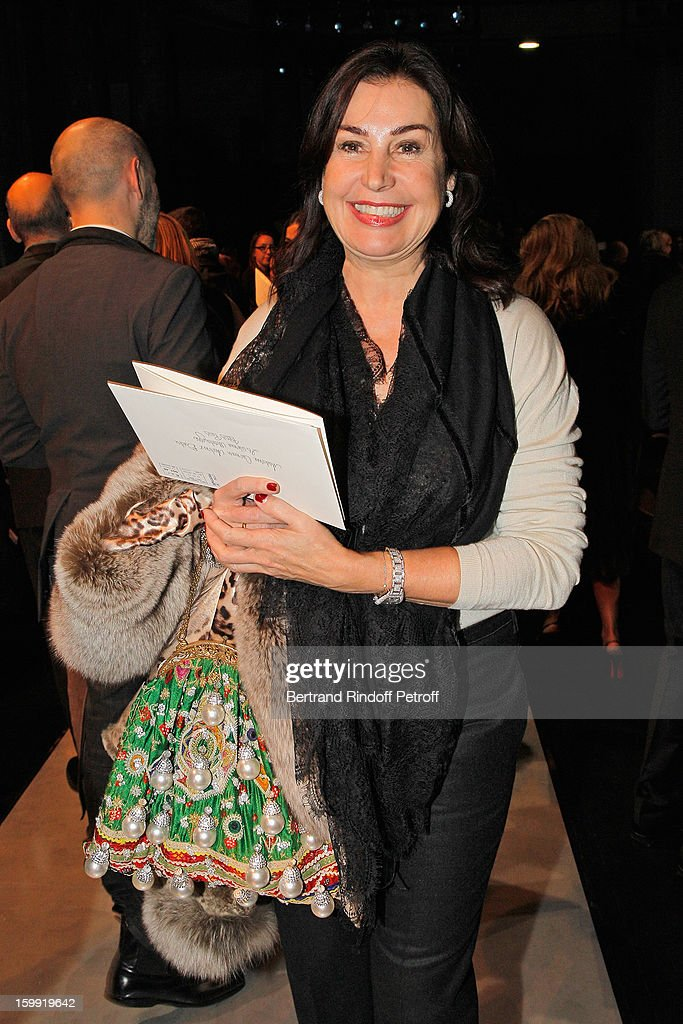Carmen Martinez-Bordiu attends the Elie Saab Spring/Summer 2013 Haute-Couture show as part of Paris Fashion Week at Pavillon Cambon Capucines on January 23, 2013 in Paris, France.