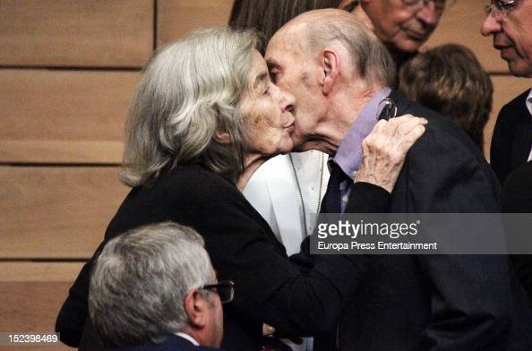 Carmen Menendez attends the funeral for former Communist Party leader Santiago Carrillo September 19 2012 in Madrid Spain Carrillo who died at the...