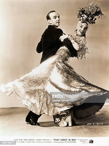 Carmen Miranda and partner in 20th Century's Night in Rio 1941 directed by Irving Cummings