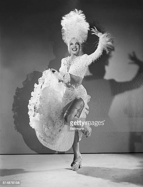 Carmen Miranda dances in the film You're For Me wearing a showy costume made completely out of plastic The dress was made for $1900 with most of the...