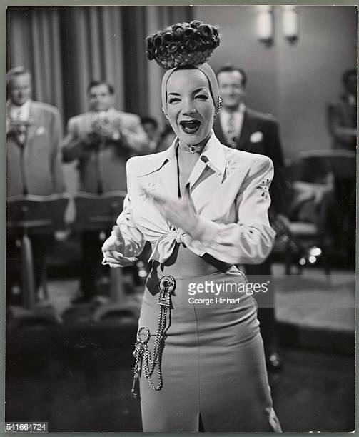 Carmen Miranda in a scene from the 20th Century Fox Technicolor film You're For Me