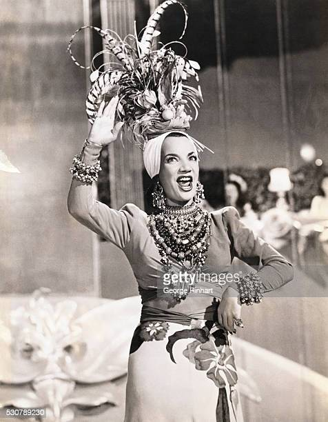 Carmen Miranda is doing the wango in the 20th Century Fox Film Weekend in Havana The Film is directed by Walker Long