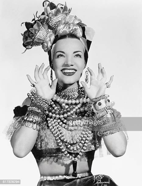 Carmen Miranda vivacious and sultry Brazilian singer has captured Broadway this season She popularized The South American Way She is in her trademark...