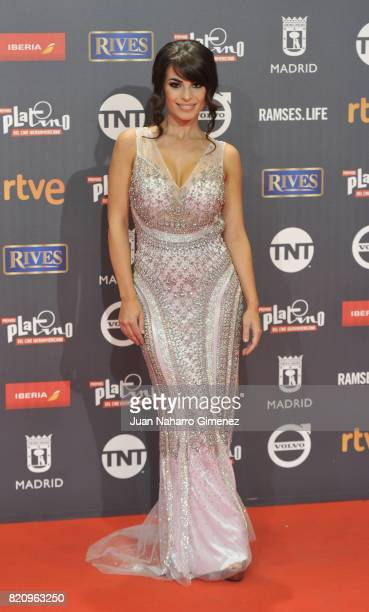 Carmen Munoz attends the 'Platino Awards 2017' photocall at La Caja Magica on July 22 2017 in Madrid Spain