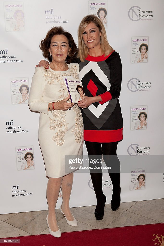 Carmen Navarro and Lujan Arguelles attend new book 'Belleza Inteligente' presentation at Casino de Madrid on January 16, 2013 in Madrid, Spain.