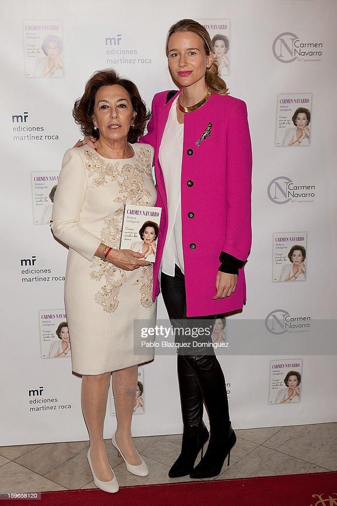 Carmen Navarro and Maria Leon attend new book 'Belleza Inteligente' presentation at Casino de Madrid on January 16, 2013 in Madrid, Spain.
