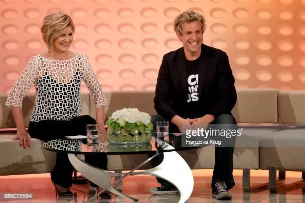 Carmen Nebel and Sascha Grammel during the tv show 'Willkommen bei Carmen Nebel' at Velodrom on May 20 2017 in Berlin Germany