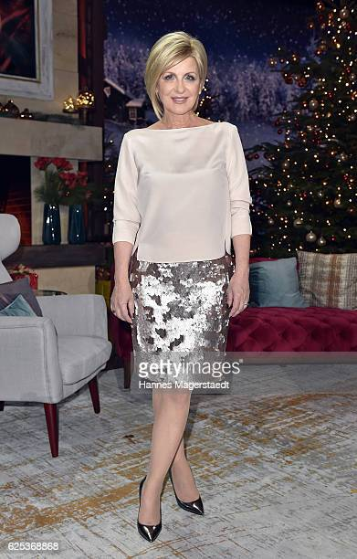Carmen Nebel during the tv show 'Heiligabend mit Carmen Nebel' on November 23 2016 in Munich Germany The show will air on December 24 2016