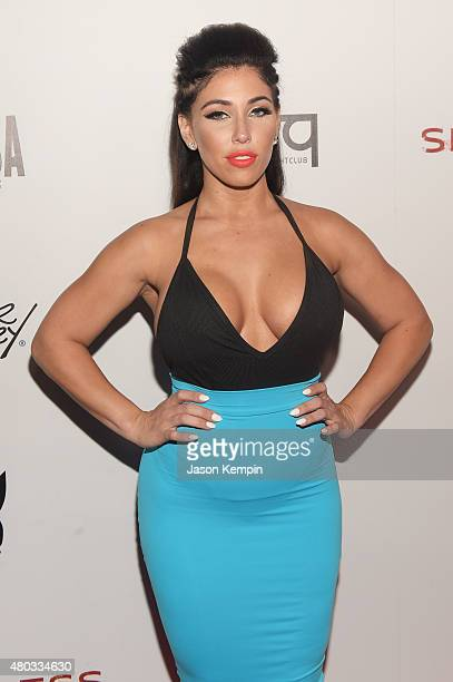 Carmen Ortega attends Playboy and Gramercy Pictures' Self/less party during ComicCon weekend at Parq Restaurant Nightclub on July 10 2015 in San...