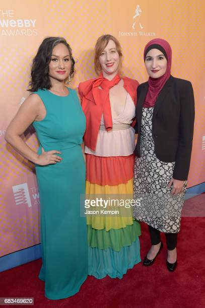 Carmen Perez Bob Bland Linda Sarsour CoChairs of The Women's March attend the The 21st Annual Webby Awards at Cipriani Wall Street on May 15 2017 in...