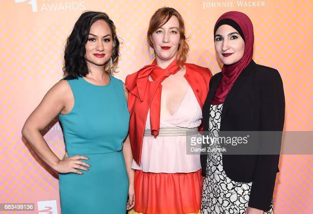 Carmen Perez Bob Bland Linda Sarsour CoChairs of The Women's March attend the 21st Annual Webby Awards at Cipriani Wall Street on May 15 2017 in New...