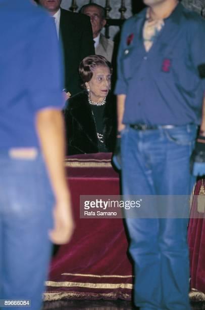 Carmen Polo de Franco widow of Francisco Franco In the celebration of the 10th anniversary of Francisco Franco´s death
