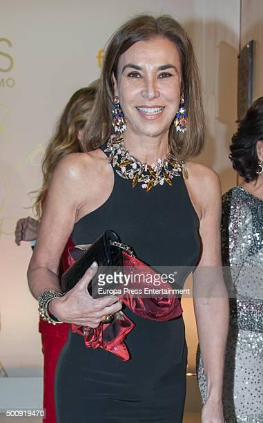 Carmen Posadas attends a dinner in honour of 'Mariano de Cavia' 'Mingote' and 'Luca de Tena' awards winners on December 10 2015 in Madrid Spain