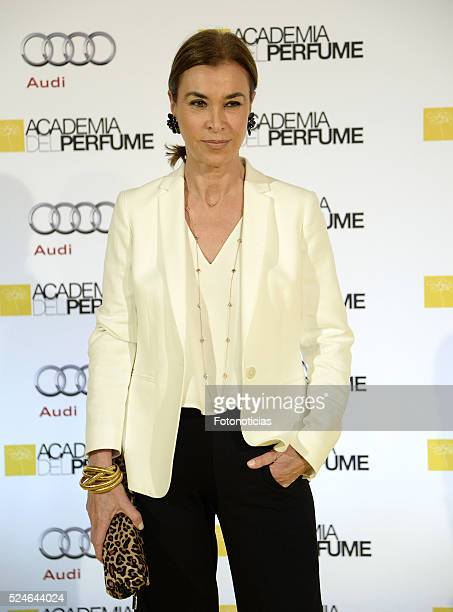 Carmen Posadas attends the 'IX Academia del Perfume Awards' photocall at Casa de America on April 26 2016 in Madrid Spain