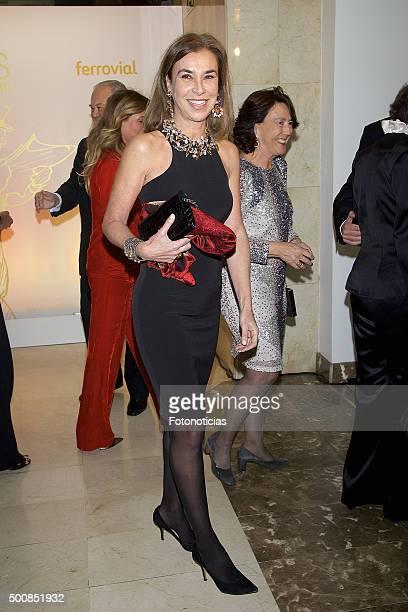 Carmen Posadas attends the 'Mariano de Cavia' 'Luca de Tena' and 'Mingote' Journalism Awards Dinner at Casa de ABC on December 10 2015 in Madrid Spain
