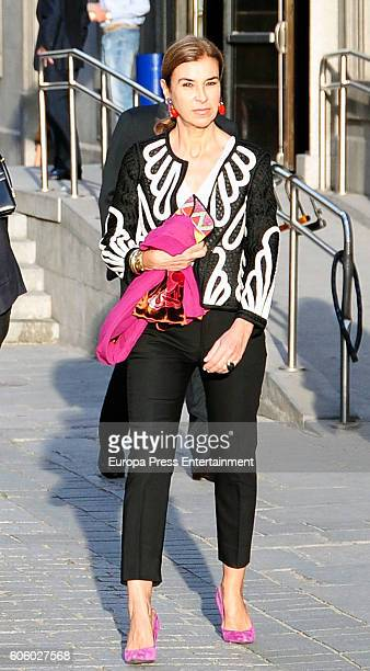 Carmen Posadas attends the opening of the Royal Theatre new season on September 15 2016 in Madrid Spain