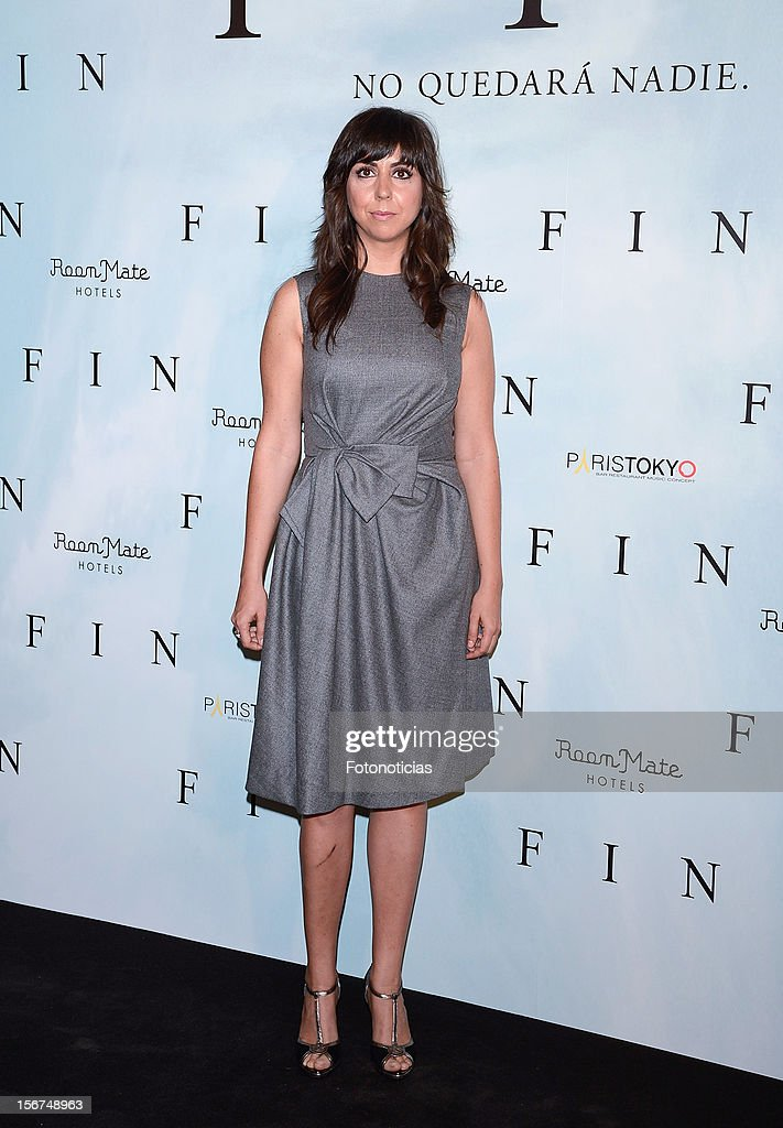 Carmen Ruiz attends a photocall for 'Fin' at the Room Mate Oscar Hotel on November 20, 2012 in Madrid, Spain.