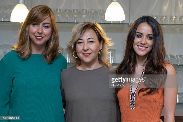 Carmen Ruiz Carmen Machi Macarena Garcia attend the 'Villaviciosa De Al lado' photocall at Warner Bros office on June 23 2016 in Madrid Spain Photo...