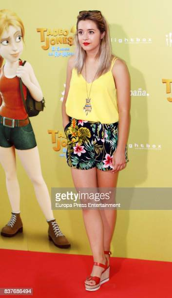 Carmen Sanchez attends during 'Tadeo Jones 2 El Secreto Del Rey Midas' premiere at Kinepolis cinema on August 22 2017 in Madrid Spain