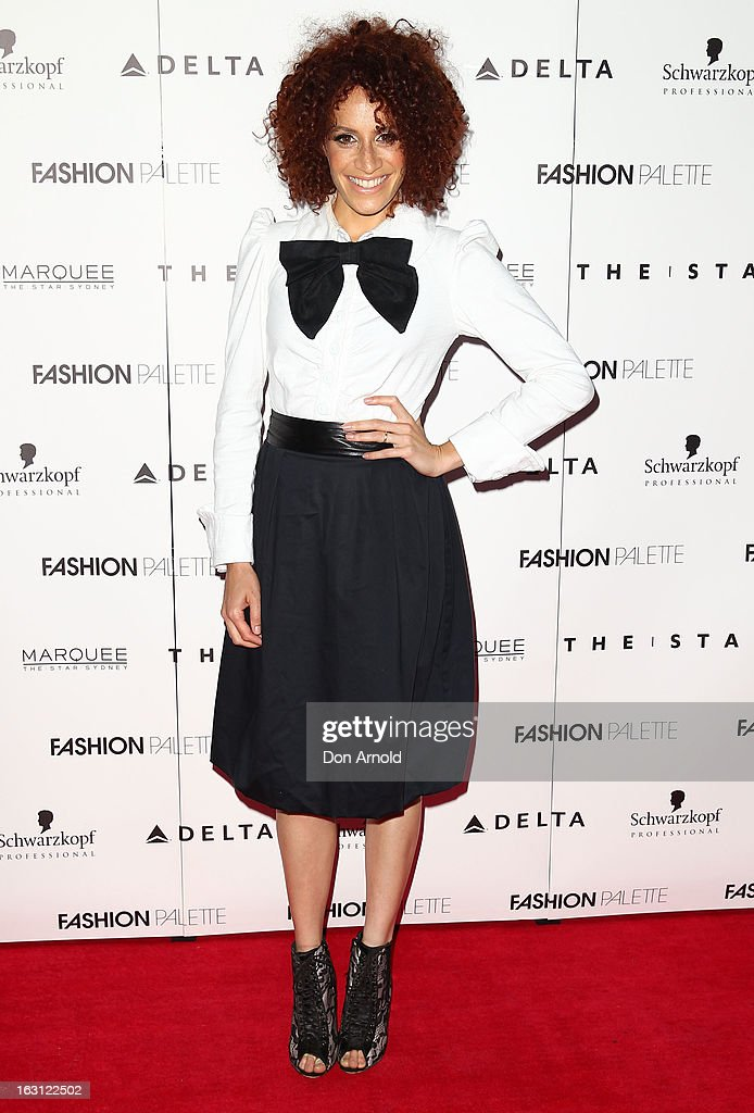 Carmen Smith poses during the Fashion Palette VIP launch at The Star on March 5, 2013 in Sydney, Australia.
