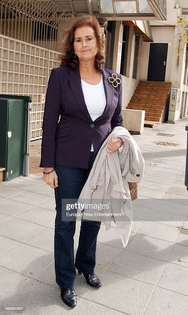 Carmen Tello is seen leaving a restaurant on March 11, 2013 in Seville, Spain.