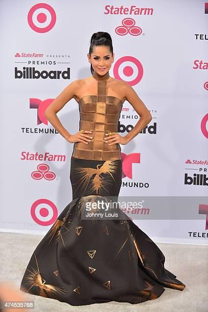 Carmen Villalobos arrives at 2015 Billboard Latin Music Awards presented by State Farm on Telemundo at Bank United Center on April 30 2015 in Miami...