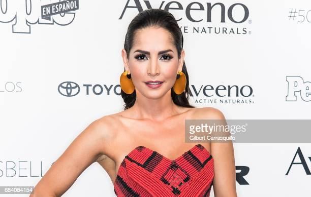 Carmen Villalobos arrives at People en Espanol's 50 Most Beautiful Gala 2017 at Espace on May 16 2017 in New York City