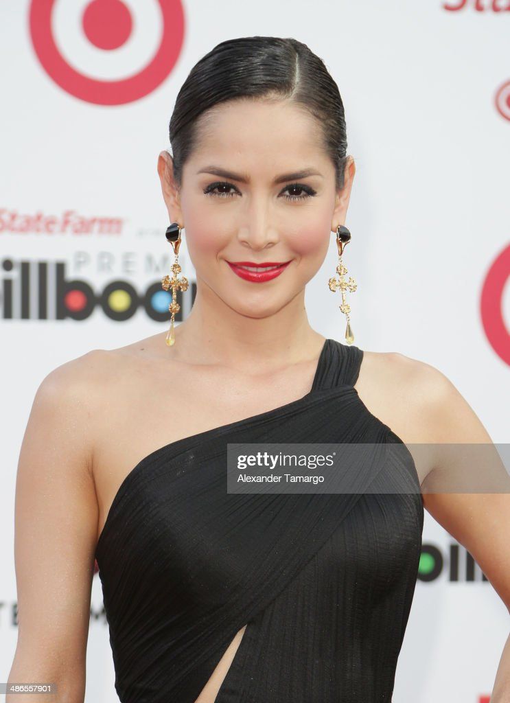 <a gi-track='captionPersonalityLinkClicked' href=/galleries/search?phrase=Carmen+Villalobos&family=editorial&specificpeople=5824359 ng-click='$event.stopPropagation()'>Carmen Villalobos</a> arrives at the 2014 Billboard Latin Music Awards at Bank United Center on April 24, 2014 in Miami, Florida.