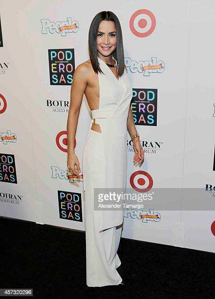 Carmen Villalobos arrives at the 25 Most Powerful Women of People en Espanol celebration at Coral Gables Country Club on October 16 2014 in Coral...