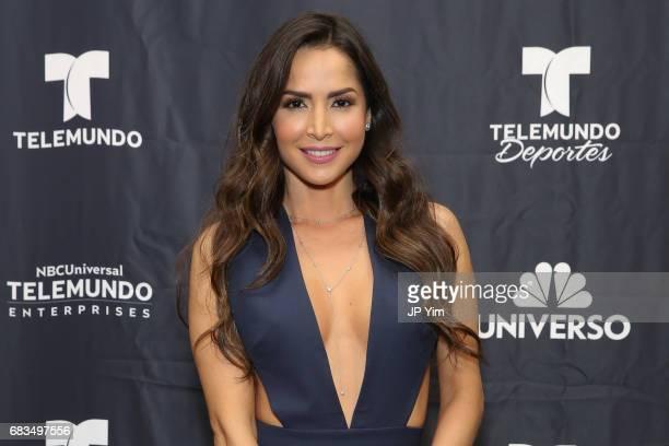 Carmen Villalobos attends Telemundo's Al Rojo Vivo 15th Anniversary Celebration at Hammerstein Ballroom on May 15 2017 in New York City